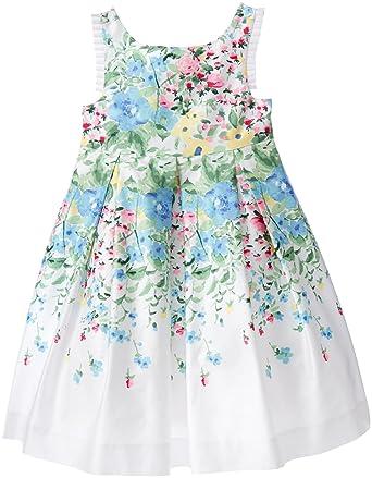 c0f6230f940f Amazon.com: Janie & Jack Baby Girls' Floral Boarder Dress: Clothing