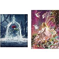 2 piezas de bricolaje 5D Diamond pintura arte