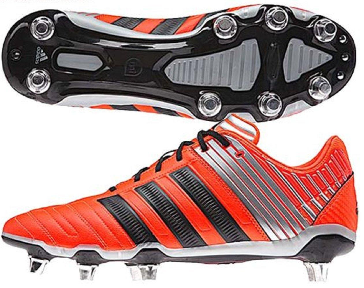 アディダス (adidas) ソフトグラウンド用 ラグビースパイク 25.5cm adipower Kakari アディパワーカカリSG 国内正規品 B35842 ソーラーレッド B0791844YV