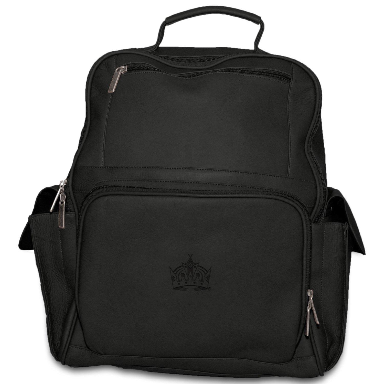 Los Angeles Kings Pangea Brands NHL Pangea Black Leather Large Backpack