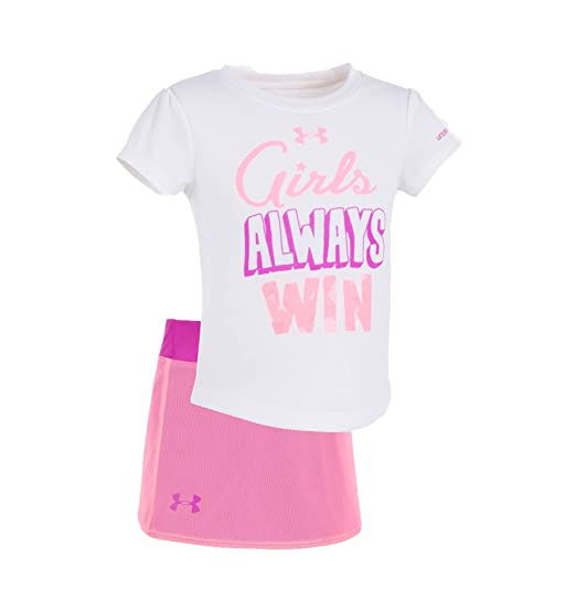 Under Armour Baby Girls Lumos Tee and Shorts 2 Piece Set