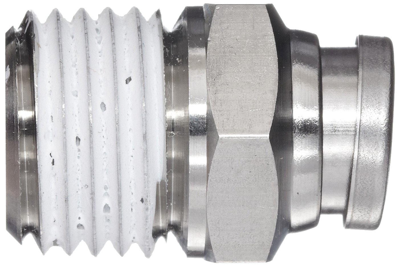 1//4 Tube OD x 1//4 NPT Male Connector with Sealant SMC KQG2 Series Stainless Steel 316 Push-to-Connect Tube Fitting
