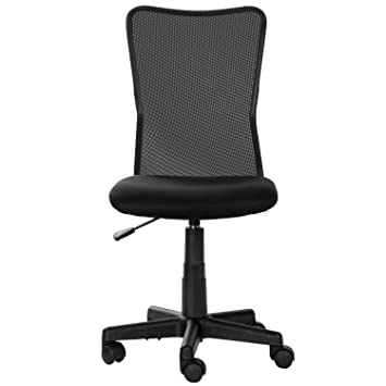 Merax Mid Back Computer Chair Stuff Chair Armless Task Chair (Black)