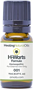 #1 Wart Removal Alternative - 90 Day Guarantee - Natural Ingredients, No Acids, Freezing or Burning. Plantar Wart Remover, Facial, Flat, Body, Warts on Hands, Fingers or Feet. at Home, Today! (11ml)