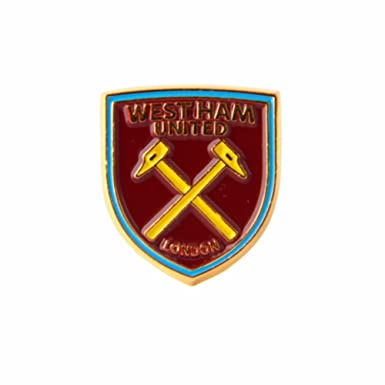 684bad080f7a West Ham United FC Official Football Crest Pin Badge (One Size) (Claret)   Amazon.co.uk  Clothing