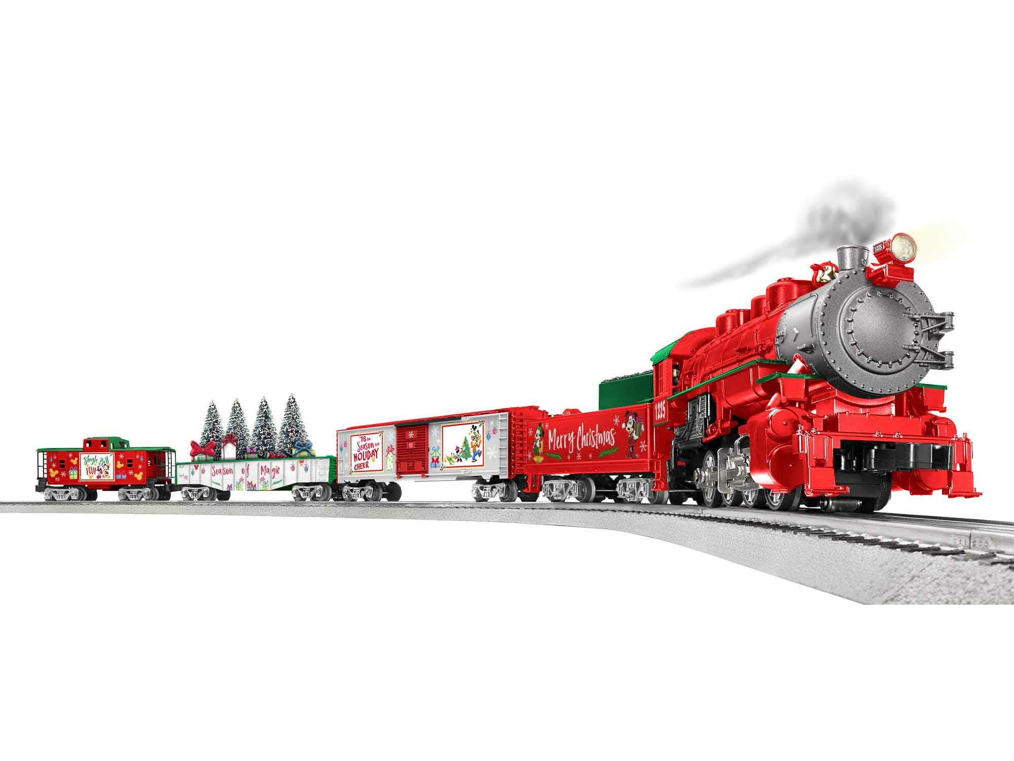 Lionel Disney Christmas LionChief 0-8-0 Set with Bluetooth Capability, Electric O Gauge Model Train Set with Remote