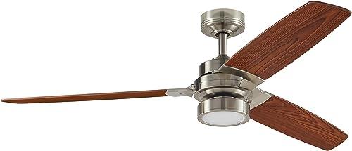 Amazon Brand Rivet Modern Remote Control AC Motor Ceiling Flush Mount Fan