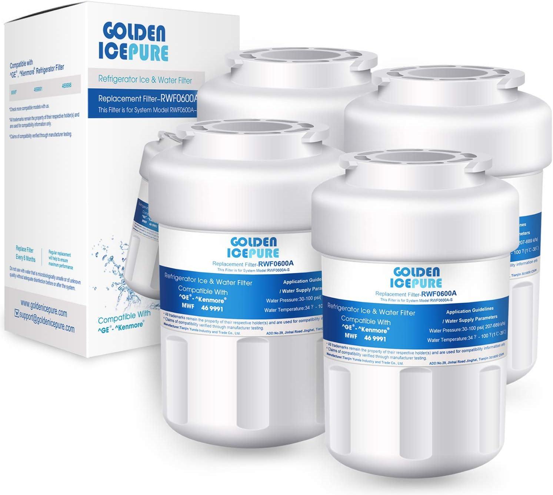 GOLDEN ICEPURE MWF Replacement Refrigerator Water Filter GE SmartWater