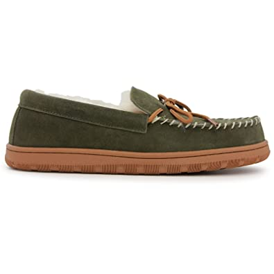 71099c792971 Lamo Mens Moc - Moccasin - Mens House Slipper - Forest - 9