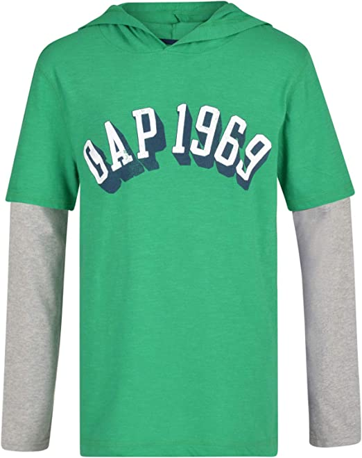 Paradise Boys Long Sleeve Hooded T Shirt EX Store Gap 1969 TOP 4-13 Years