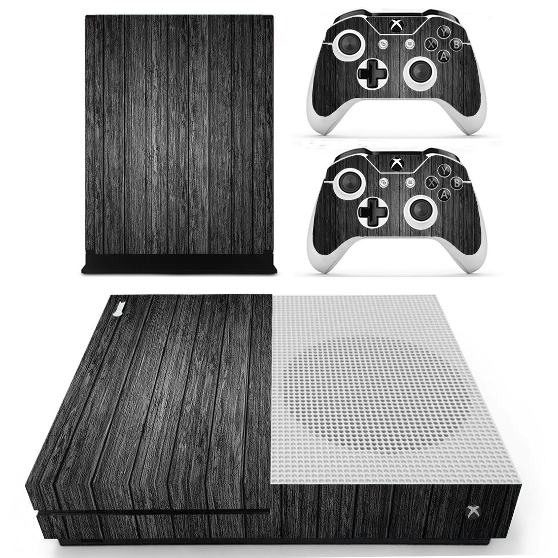Amazon.com: Xbox One S Slim Skin Sticker Vinly Decal Cover for Xbox One  Slim Black Wood by SKINOWN: Computers & Accessories