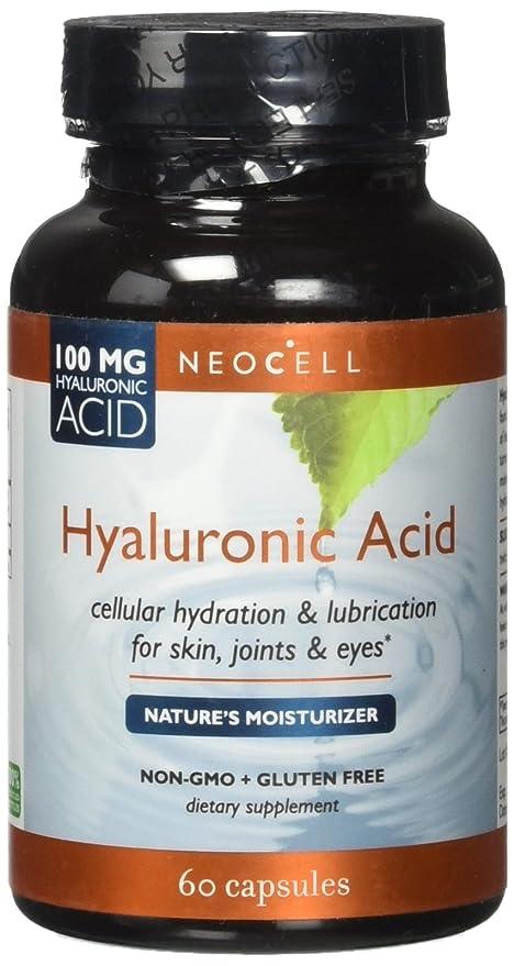 NeoCell - Magnesio ácido de las cápsulas 100 de Hyaluronic. - 60 cápsulas