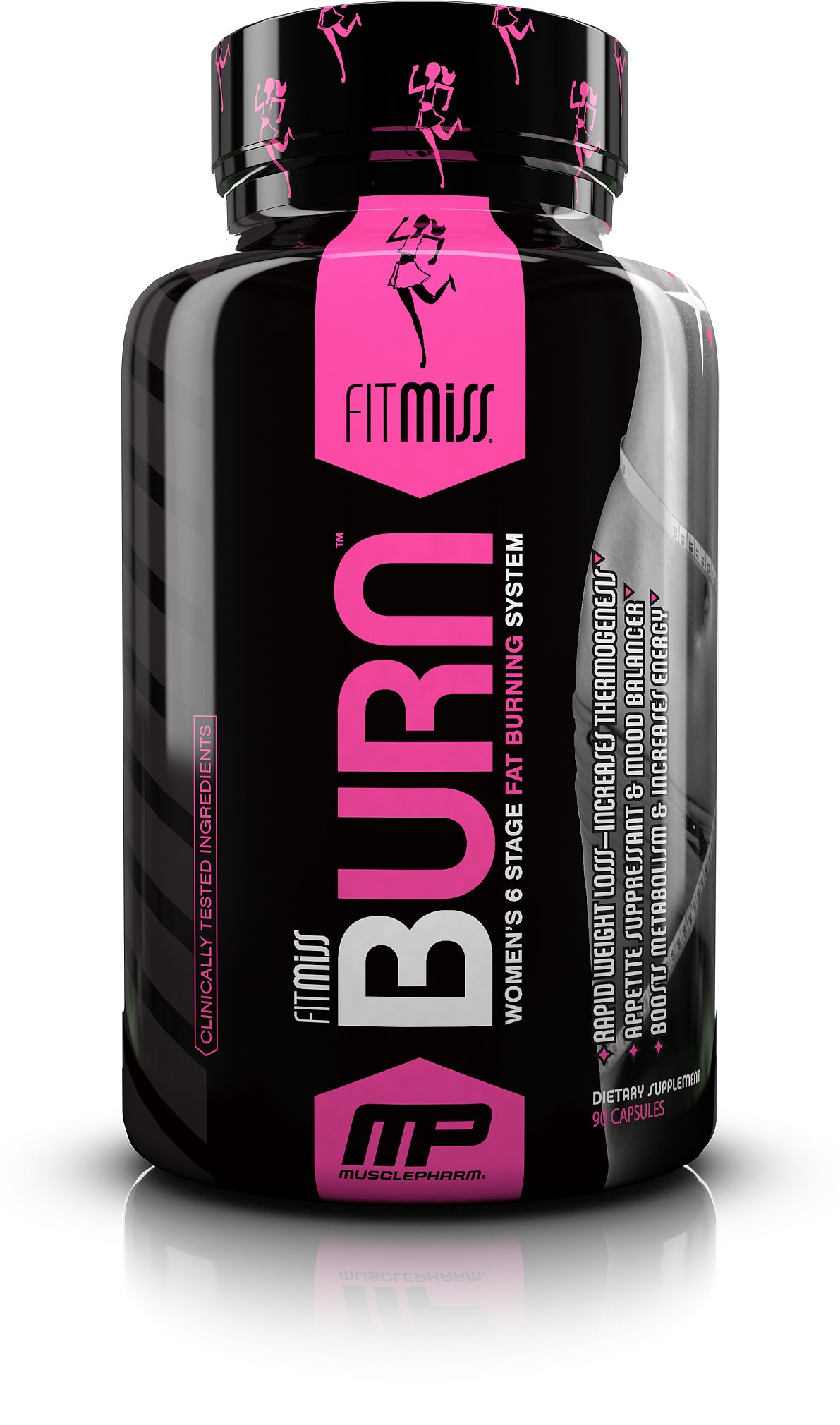 FitMiss Burn, Women's Weight Management, Fat Burner that Supports Appetite Control, Enhanced Mood, Energy & Metabolism, Capsules, 90 Count, 45 Servings by FitMiss