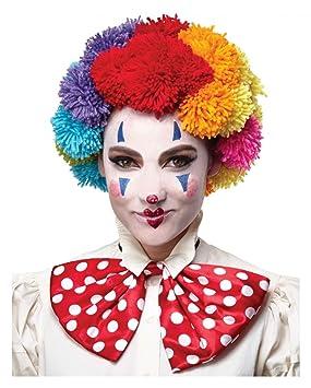 Horror-Shop peluca de lana colorido del payaso