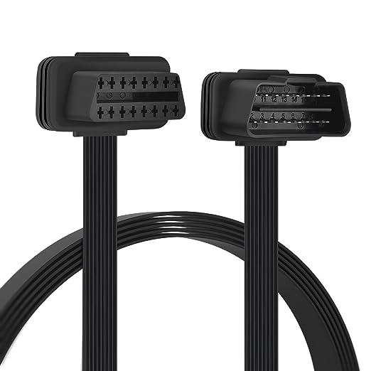 Obd2 16 Pin Verlängerung Kabel Stecker Auf Buchse Verlängerungskabel Diagnostizieren 30cm Gewerbe Industrie Wissenschaft