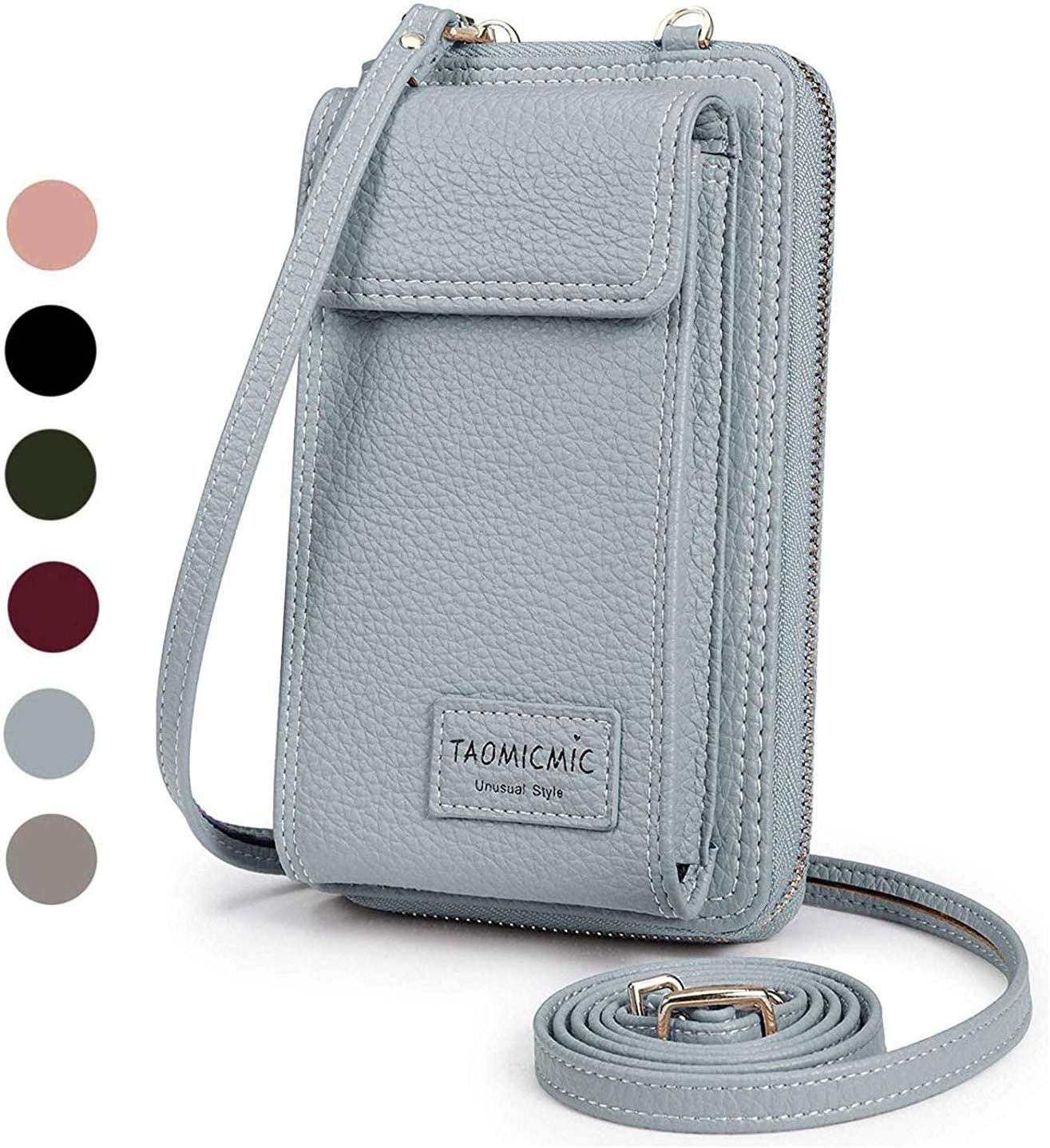 Women Crossbody Cell Phone Bag Small Shoulder Purse Leather Travel RFID Card Slots Wallet Case Handbag Phone Pocket Baggap Clutch for iPhone 11 Se 2020 11 Pro Xr X Xs Max 8/7/6 Plus Samsung