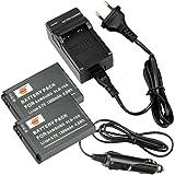 DSTE 2-pacco Ricambio Batteria + DC23E Caricabatteria per Samsung SLB-10A P800 P1000 PL50 PL51 PL55 PL60 PL65 PL70 SL102 SL202 SL310 SL420 SL502 SL620 SL720 SL820 TL9 WB150F WB250F WB350F WB500