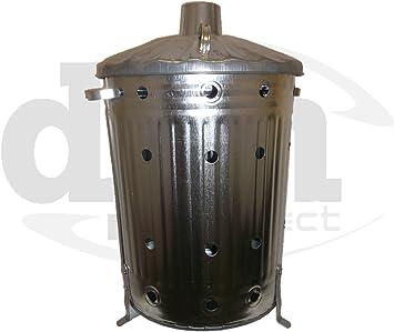 Galvanizado cubo incinerador de jardín Extra agujeros Top calidad papelera: Amazon.es: Bricolaje y herramientas