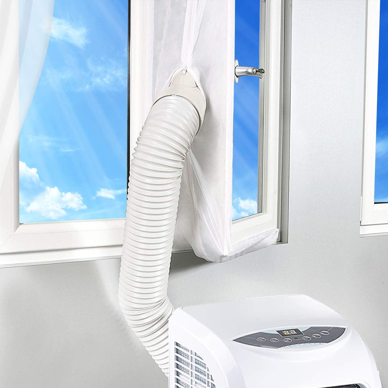 Rhodesy Aislamiento de Ventanas para Aire Acondicionado Móvil y Secadora, Adecuado para Unidad de Aire Acondicionado Portátil, Parada de Aire Caliente - Fácil de Instalar 400CM