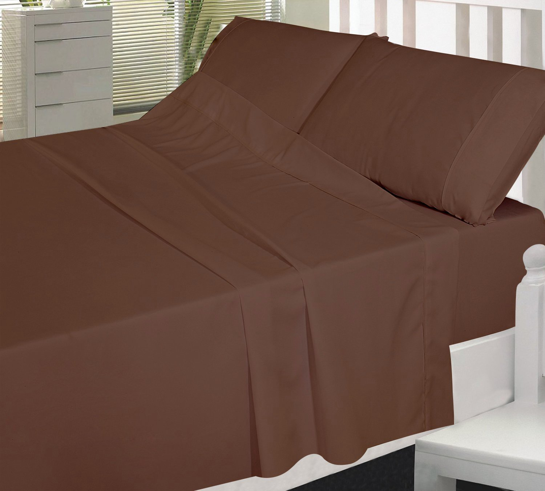 Premium Cotton Sheet Set 3 Piece Bedding Set Flat Sheet Fitted