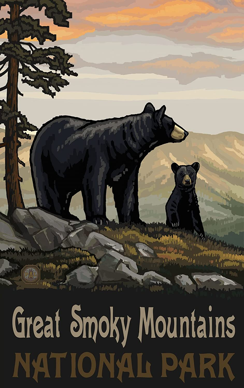 Amazon northwest art mall great smoky mountains national park amazon northwest art mall great smoky mountains national park north carolina black bear family wall art by paul a lanquist 11 by 17 inch prints amipublicfo Choice Image