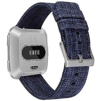 KIKN Las Cintas Tejidas Disponibles para Los Relojes Fitbit Versa Y Las Pulseras De Nylon Ajustables