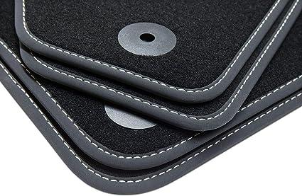 Couture de Couleur:Argent tuning-art 68s Exclusive Tapis de Sol avec liser/é Lettrage et Coutures d/écoratives