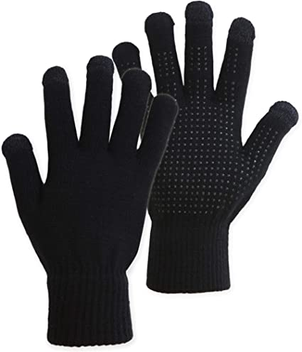 2 Pairs Winter Thermal Gloves Warm Touchscreen Hand Gloves Sport Running Gloves for Men or Women
