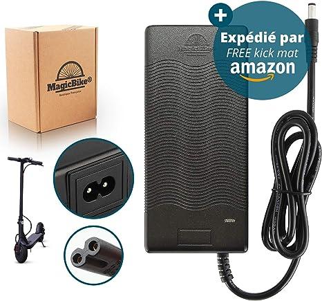 MagicBike® 42v 2A Cargador Patinete Electrico Bateria 36v, bateria Bicicleta electrica 36v - Adaptador de Fuente de alimentación para Cargar batería Bici electrica de Litio - Conector 5.5mm/2.1mm: Amazon.es: Deportes y aire