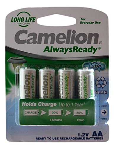 Set Of 4 Smart Solar Rechargeable Batteries 2 Amazon Co