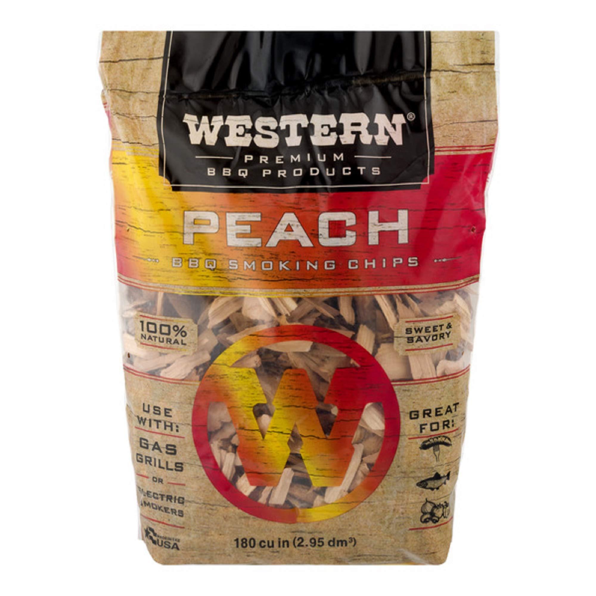 Western Premium BBQ Products Peach BBQ Smoking Chips, 180 cu in
