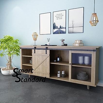 8ft Cabinet Barn Door Hardware Kit  Mini Sliding Door Hardware   For Cabinet  TV Stand