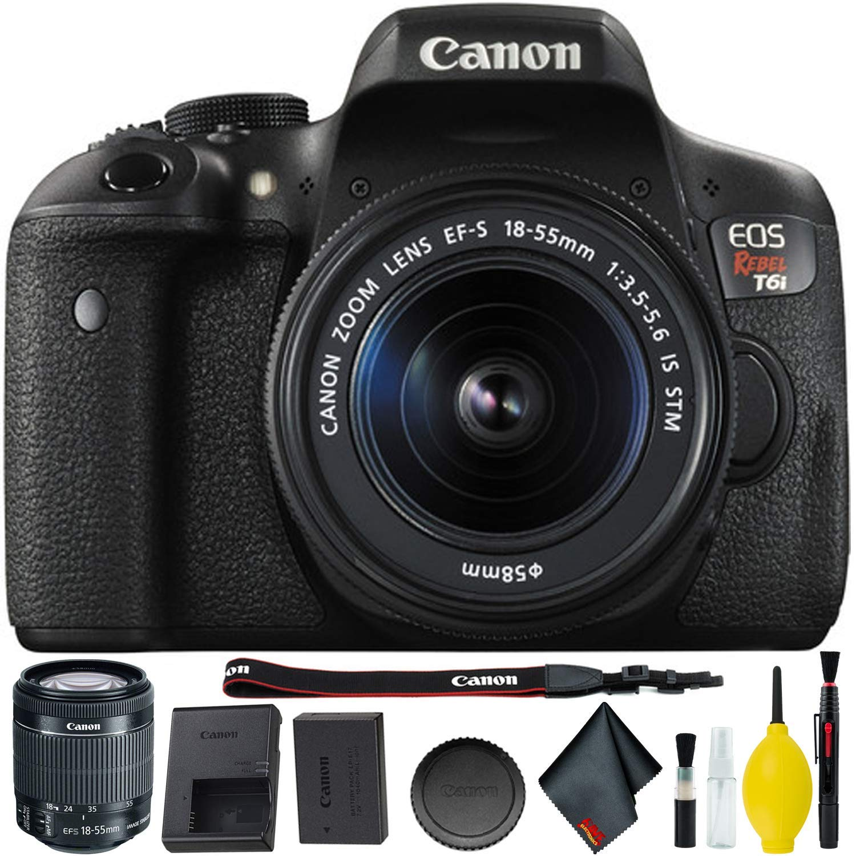 Amazon Com Canon Eos Rebel T6i Dslr Camera With 18 55mm