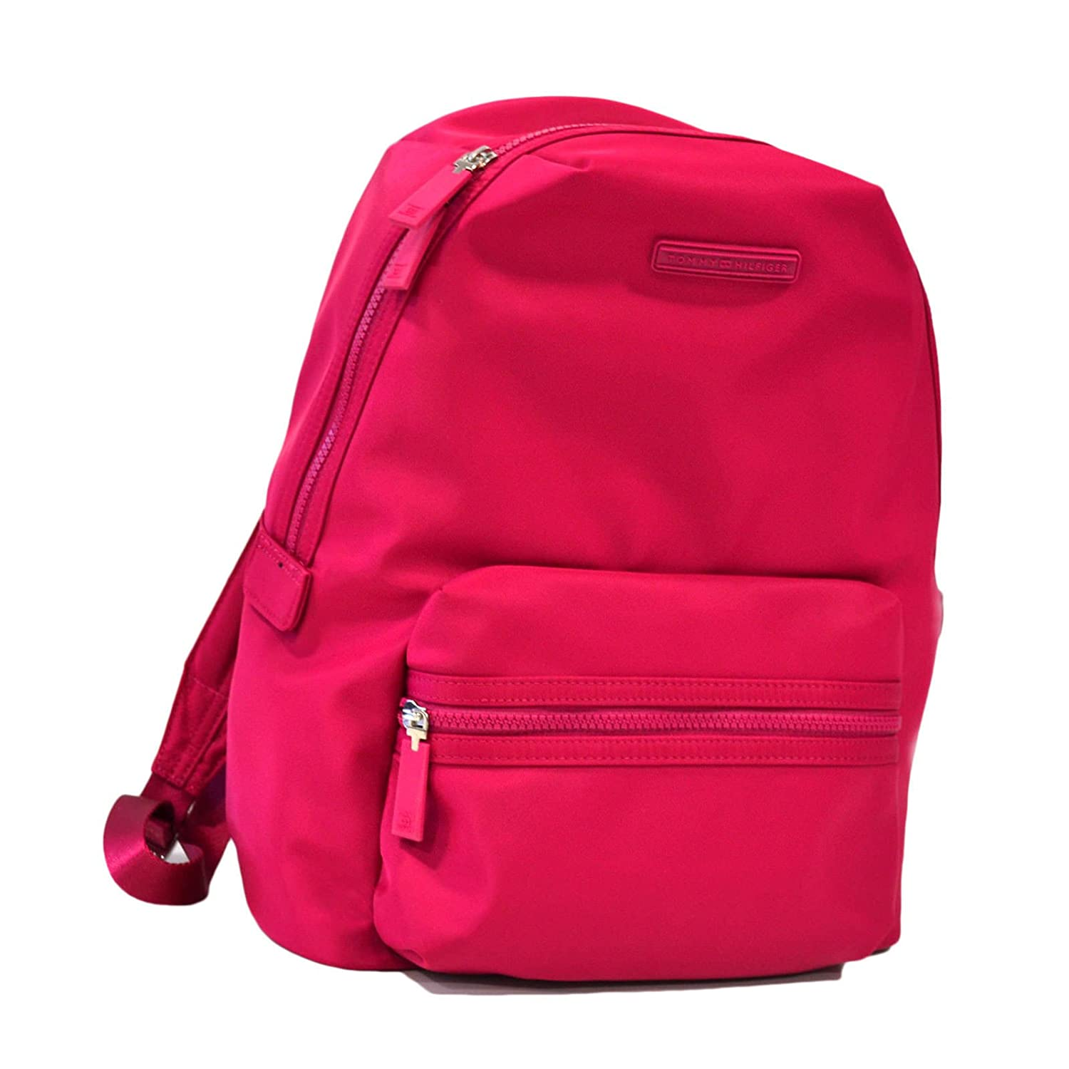 good Tommy Hilfiger Laptop Nylon Backpack (Pink)
