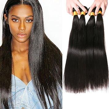 SilkyLong Straight Weave hair Peruvian hair 4 bundles 14 16 18 20 inch 9a  for black women black Friday  Amazon.co.uk  Beauty 524b33b6ba