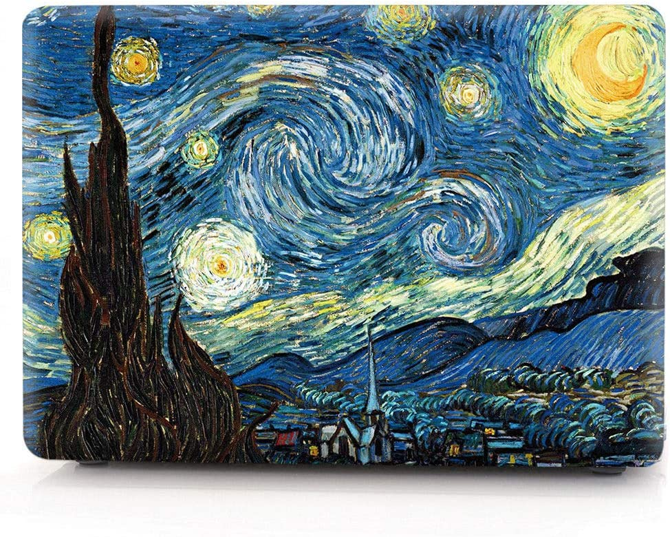 """HRH Starry Night Laptop Body Shell Protective Hard Case for MacBook Air 11"""" 11.6 inch (Models: A1370 and A1465)"""