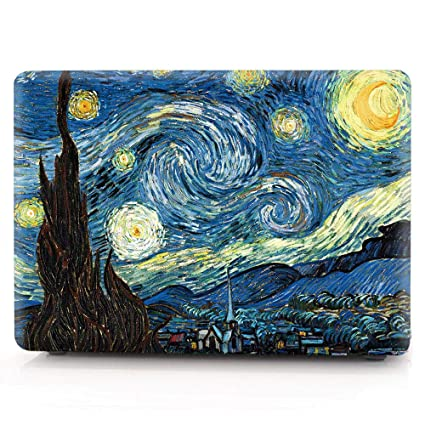 HRH Starry Night Laptop Body Shell Protective Hard Case for Apple MacBook Air 11