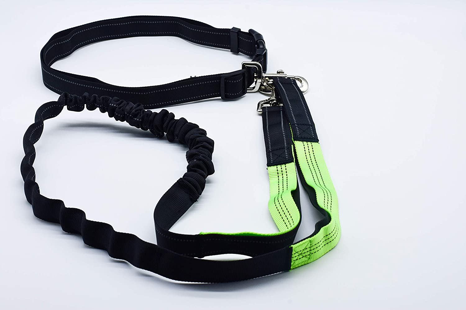 Hands Free Dog Leash Reflective Running Dog Leash with Double Handles,Strong Bungees /& Adjustable Waist Belt for Walking Jogging Hiking,Shock Absorbing Blue