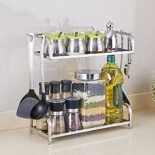 SHtlj Especieros Estante de Cocina Estante de condimentos de ...