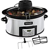 Crock-pot 5.7l Stainless Steel Digital Countdown Slow Cooker and Rice Cooker with Auto-Stir