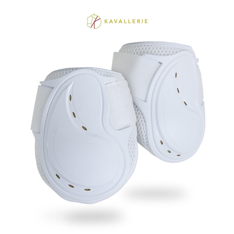 Kavallerie neo-pro Air ElastoクラシックFetlockブーツ、衝撃吸収性、通気性&圧力均等、Fetlock Injury保護、滑り止めwithソフト裏地Show Jumpingブーツ B0746FC6G6 Small|ホワイト ホワイト Small