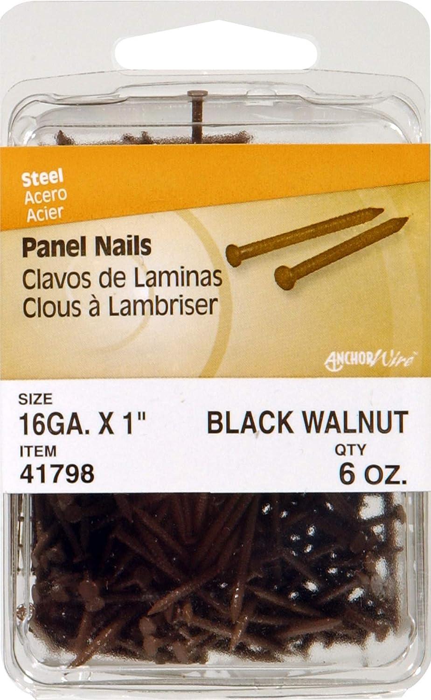 1-Inch 2 The Hillman Group 41798 Panel Nail Black Walnut