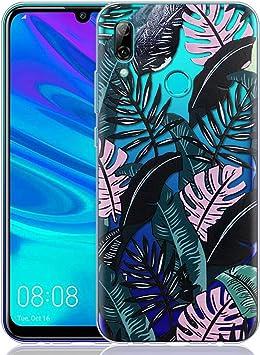 ZhuoFan Funda Huawei P Smart 2019, Cárcasa Silicona Transparente con Dibujos Diseño Suave Gel TPU Antigolpes de Protector Case Cover Fundas para Movil Huawei PSmart 6,21 Pulgadas, Hojas Negras: Amazon.es: Electrónica