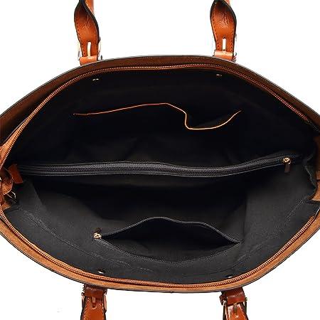 abc4684a8a3fb PB-SOAR Damen Vintage Elegant Henkeltasche Schultertasche Ledertasche  Shopper Umhängetasche Handtasche (Rot)  Amazon.de  Koffer