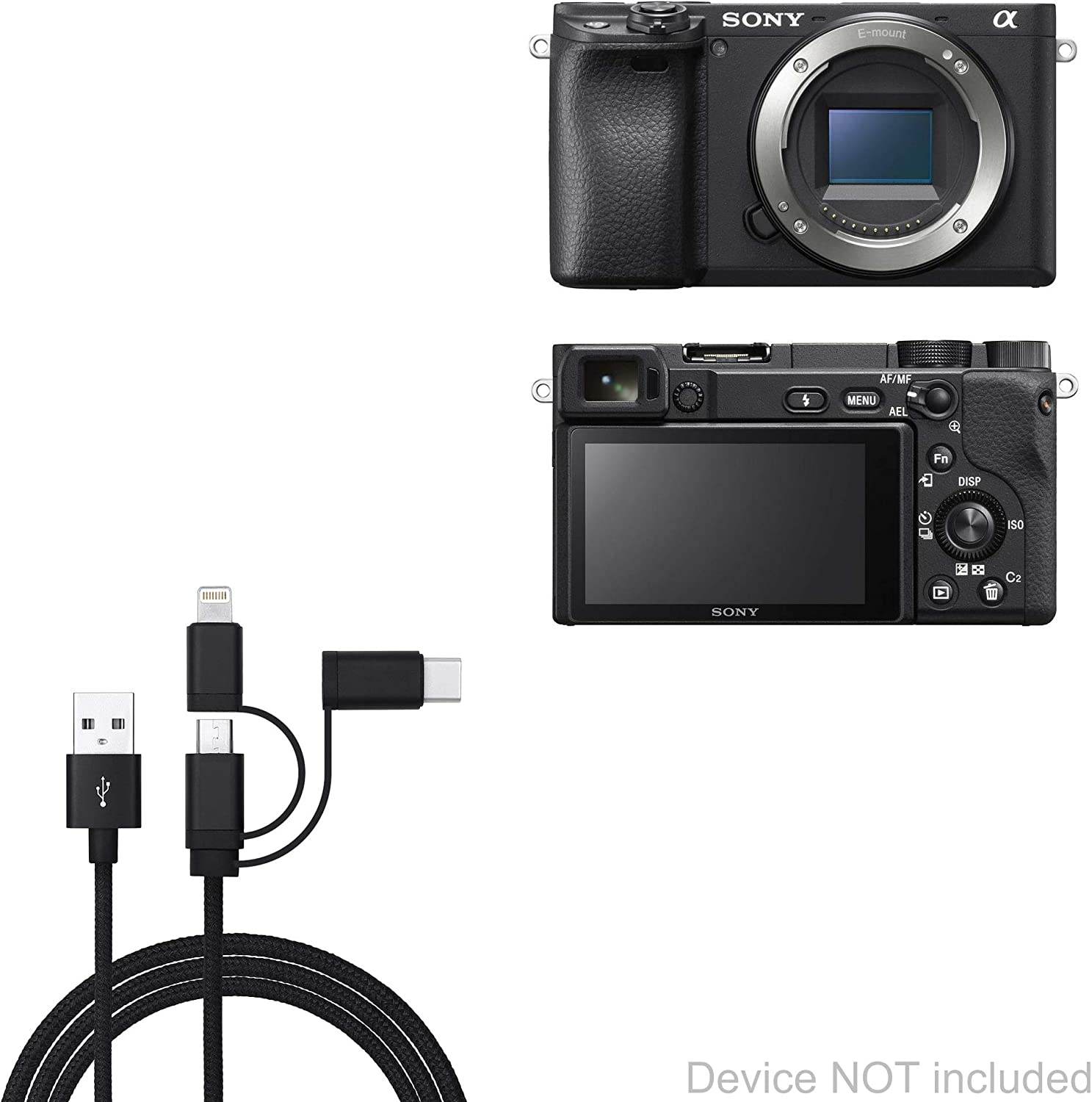 Canon XA10 Cable DirectSync Cable Durable Charge and Sync Cable for Canon XA10 BoxWave/®