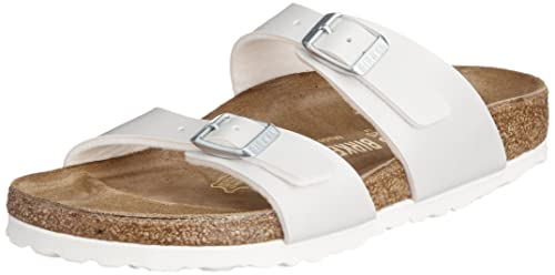 4e8ca467d8a Image Unavailable. Birkenstock Sydney Narrow Fit - Pearly White 488183  (Man-Made) Womens Sandals 40