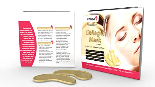 29 opinioni per 10 x Pack New Crystal 24K Gold Powder Gel Collagen Eye Mask Masks Sheet Patch,
