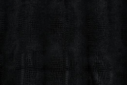 Tela al metro color terciopelo de algodón negro tejido de piel de serpiente: Amazon.es: Hogar