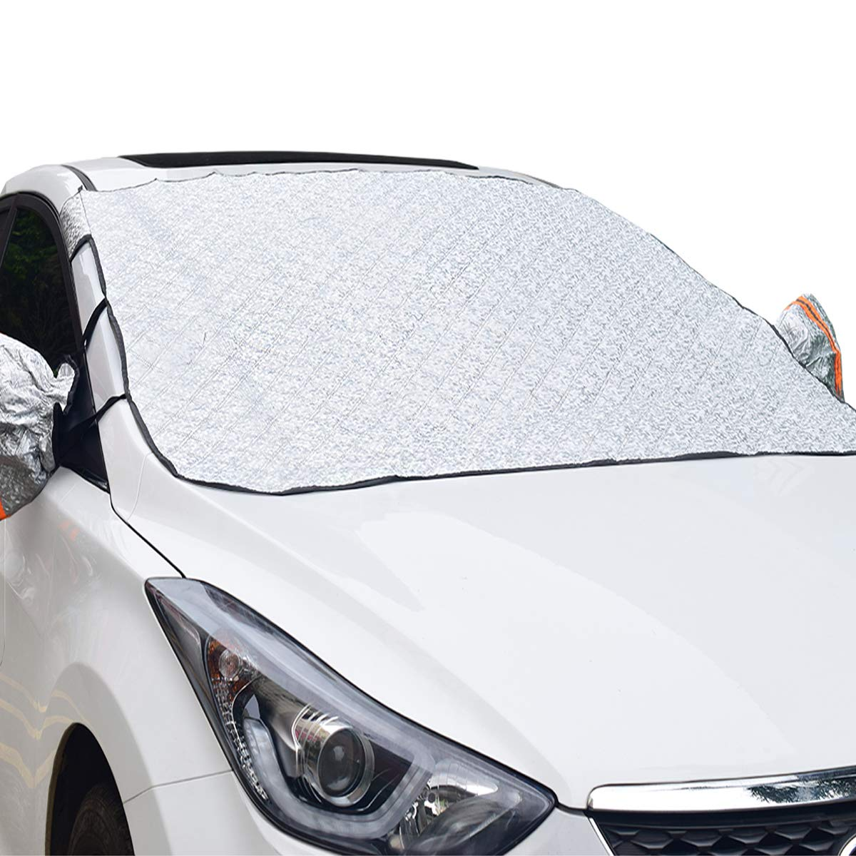 Car Windshield Snow Cover Magnetic with Mirror Cover Thickened Cotton Ice Frost Sunshade UV Protector Frostguard No Scratches Windshield Covers for Car, SUV, Truck, CRV FEENM