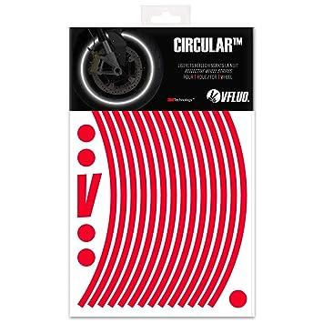 VFLUO CircularTM, Kit de Cintas, Rayas Retro Reflectantes para Llantas de Moto (1 Rueda), 3M TechnologyTM, Anchura Normal : 7mm, Rojo: Amazon.es: Coche y ...